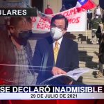 Se declaró inadmisible